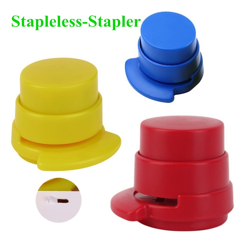 Superior Room With 1 Pieces Free Basic Office Stapleless Stapler Home Paper Binder Clip Home Elegant Stationery Office Drop