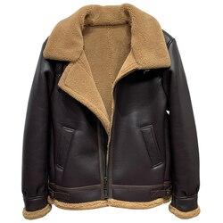 Vintage Fashion Man's Lamb Fur Jacket Overcoat 5XL Oversized Winter Shearling Coats Outwear Jackets Mens Clothes European Style