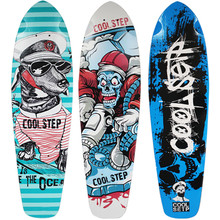 Gedrukt Fish Skate Board Deck Skateboard Vis Skateboard Decks Enkele Rocker Board 7-layer Esdoorn Skateboard Longboard(China)