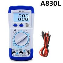 Urijk A830L ЖК-цифровой мультиметр портативный DC AC напряжение диод Freguency мульти тест er ручной Вольт Тест er тест тока Омметр