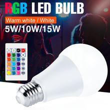 Светодиодсветодиодный цветная лампа e27 rgb ampul светодиодный