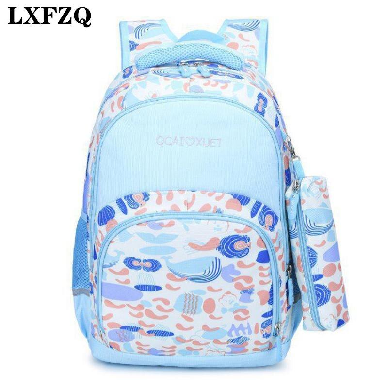 LXFZQ 2-piece set School Backpack Kids School Bags For Girls Kids Bag Boys Backpack School Bags For Kids Rugzak Fashion Book Bag