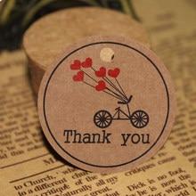 100 adet ile teşekkür kırmızı kalp hediye etiketleri düğün parti kağıt asma etiketleri fiyat etiketi asmak etiketi kartları Kraft kağıt asılı çıkartmalar