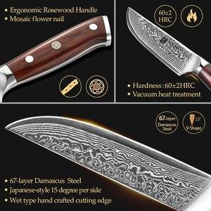 Image 4 - XINZUO 5 inç biftek bıçağı şam vg 10 çelik mutfak bıçakları gülağacı kolu yeni gelmesi yüksek kaliteli pişirme aracı maket bıçağı