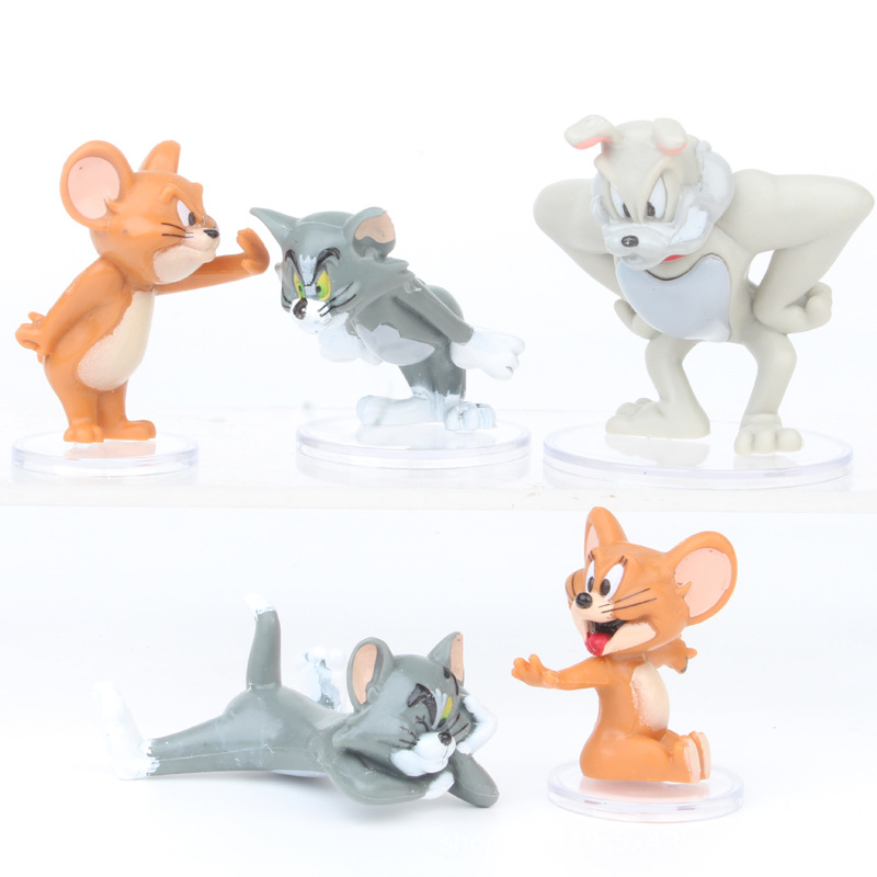 Tom and Jerry cat set of 4pcs figure PVC doll toy anime figures gift dolls