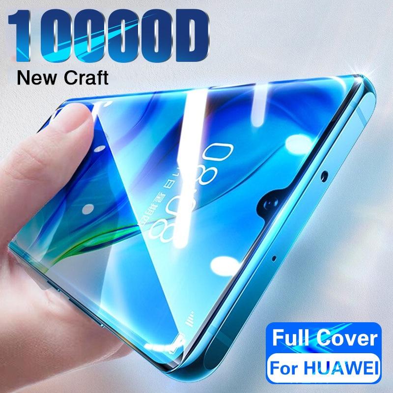 Cobertura completa de vidro temperado para huawei p30 p40 p20 lite pro protetor de tela em honra 20 10 v20 mate 20 30 lite p inteligente 2019 vidro