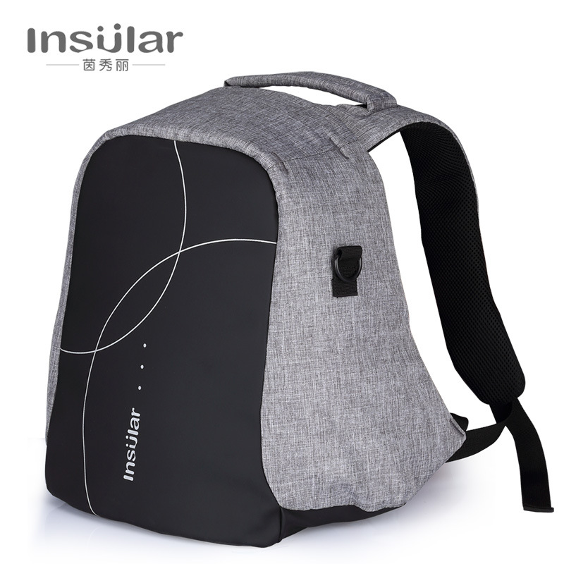 Insular Nylon Multi-functional Large Capacity Waterproof Mummy Backpack Mom And Baby Diaper Bag Backpack Mommy Bag Cross Border