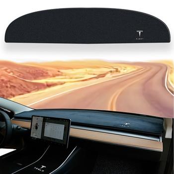 2021 Tesla Model 3 deska rozdzielcza mata pokrywa Dash Cover antypoślizgowa mata na deskę rozdzielczą Protector osłona przeciwsłoneczna dla Tesla model 3 S 2018 2019 2020 2021 tanie i dobre opinie CN (pochodzenie) hw-454 0 2inch 20inch Flannel Listwy do auta 0 5kg 3inch 2019-2020 Car Dashboard Avoid Light Pad nstrument Platform Desk Cover