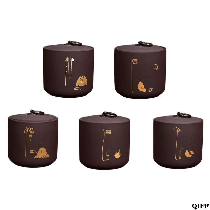 Ceramic Tea Cans Moisture-proof And Durable Kitchen Ceramic Storage Tanks