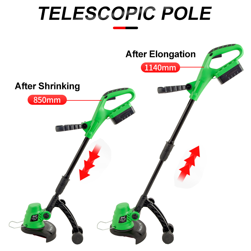 Trimmer Pruning Garden 18V Rechargeable Grass East Mower Cordless Tools Telescopic Battery Portable Handle ET1101 Mower Lawn