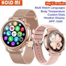 V25 ساعة ذكية النساء درجة حرارة الجسم سوار ذكي IP67 مقاوم للماء ضغط الدم مقابل GW33 V23 Smartwatch Andriod IOS الهاتف