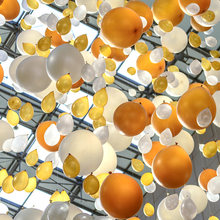 Круглые латексные воздушные шары с украшением на день рождения