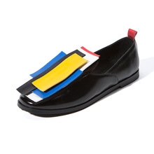 Spring Autumn 2019 leather women oxford shoes casual patent flat-bottomed large size 37-43 flat Yasilaiya