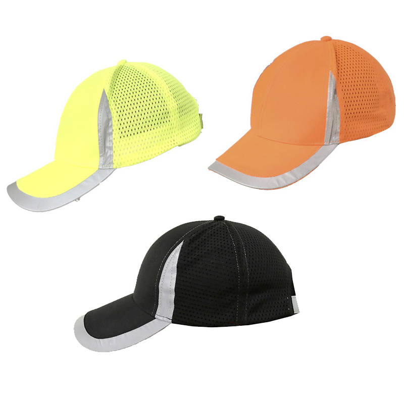 High Visibility Reflective Baseball Cap Yellow Safety Hat Work Safety Helmet Ultralight Hat Safety Traffic Cap