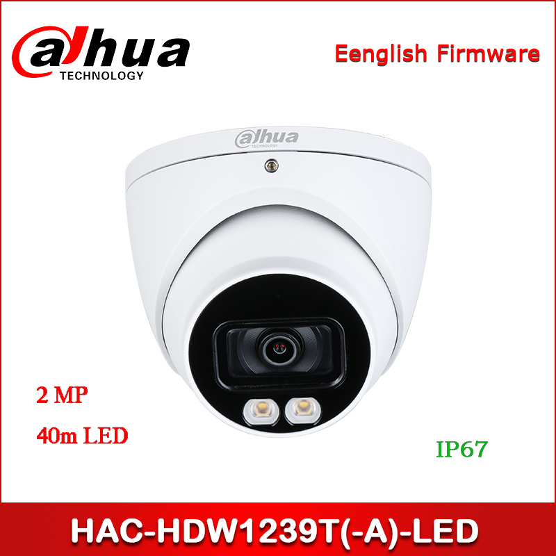 Dahua HAC-HDW1239T-LED HAC-HDW1239T-A-LED 2M Full-color Starlight HDCVI Eyeball Camera