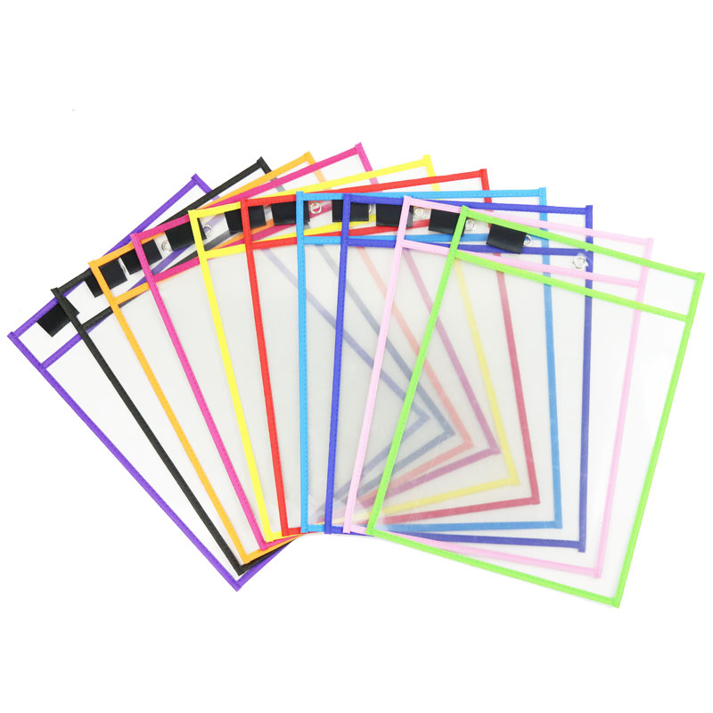 10 Pcs Dry Erase File Folder Document Bag For Reusable Writing And Wiping Bags For Pen Training School Baby  Early Education Toy