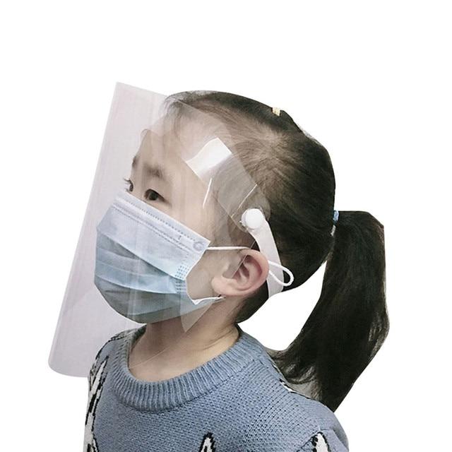 Transparent Adjustable Full Face Shield Plastic anti-epidemic anti-fog safety Mask Flip-up Visor Medical Work Guard 4