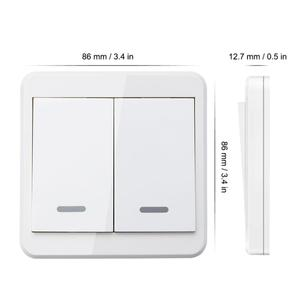 Image 3 - KTNNKG 433MHz Universal Wireless Remote Controls 86 Wall Panel RF Transmitter With 1 2 3 Buttons for Home Room Lighting Switch
