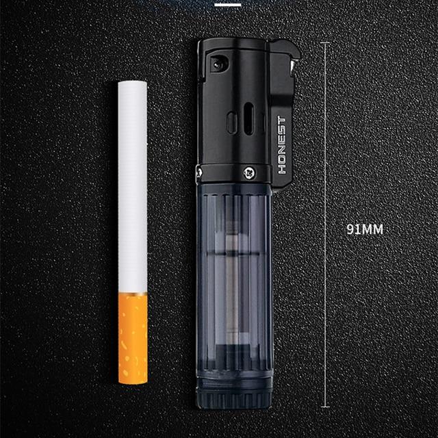 HONEST Gas Lighter Lighters Smoking Accessories Blue Flame Butane Torch Lighter Cigarettes Lighter Gadgets For Men 2020 New 3
