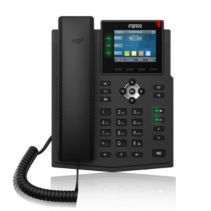 Fanvil IP Phone X3U Enterprise IP Phone High-definition Audio Wireless Fixed Telephone Businesses Office Phone VoIP IPv4/IPv6