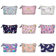 Vogvigo Icecream Animal Printing Makeup Bags With Multicolor Pattern Cosmetics Pouchs For Travel Ladies Pouch Women Cosmetic Bag jom tokoy 3d printing makeup bags cartoon animal pattern cosmetics pouchs for travel ladies pouch women cosmetic bag