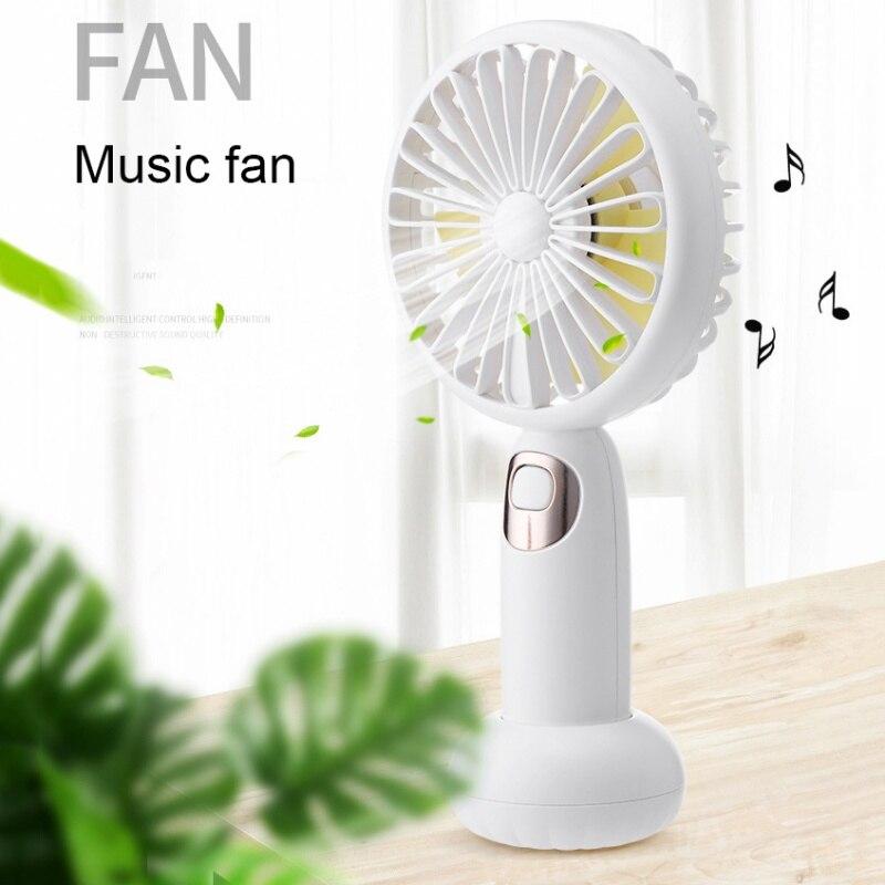 800MA USB Charging Bluetooth Speaker Small Fan Mini Handheld Desktop Cartoon Rechargeable Battery Small Fan For Home Office