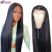 250 Density Lace Wig Bone Straight Lace Front Human Hair Wigs 4X4 Closure Wig Brazilian 13X4 Straight Lace Frontal Wig For Women