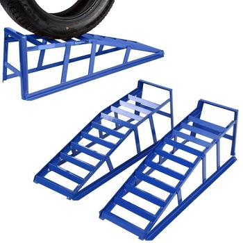 Samger Heavy Duty Car Ramps Steel Car Access Ramps Loading Ramp 2 Ton ONE pair of Loading Dock Steel Car Rampers