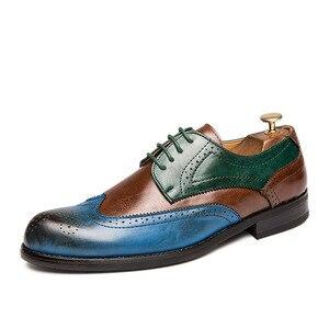 Мужские модельные туфли; мужские туфли в британском стиле с перфорацией типа «броги»; свадебные туфли из лакированной кожи; мужские кожаные...