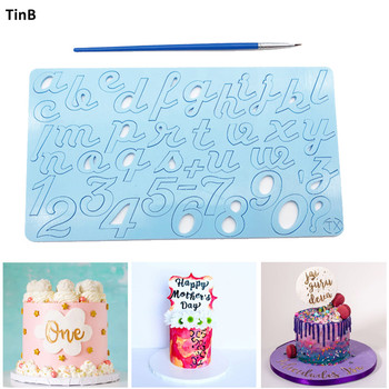 New Cake Tool Acrylic Capital/Alphabet/Number Embossed Cutter Mold Letter Cake/Cookie Cutter Stamp Fondant Cake Decorating Tools