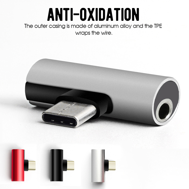 Type C To 3.5MM Adapter Mobile Phone Earphone Audio Adpater For Xiaomi For Android USB-C Headphones Splitter Converter Adapters