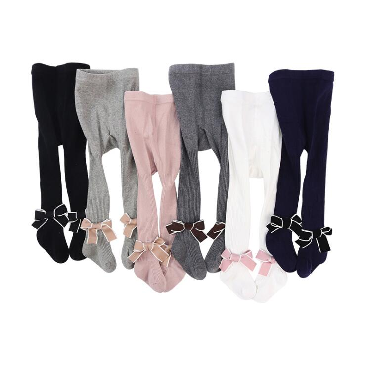 Soft Breathable Newborn Baby Girls Pantyhose Autumn Winter Cotton Bowknot Infant Kids Tights Stocking For Girls Pants Children