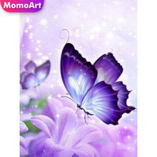 MomoArt 5D Full Drill Square Diamond Painting Butterfly Diy Embroidery Home Decoration Picture Rhinestone Handmade