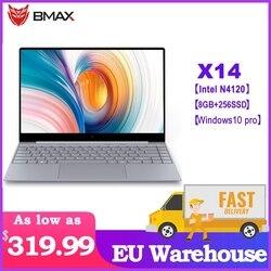 Bmax x14 portátil intel n4100 14.1 polegada intel gemini lago 8 gb lpddr4 ram 256 gb ssd rom windows 10pro portátil com teclado retroiluminado
