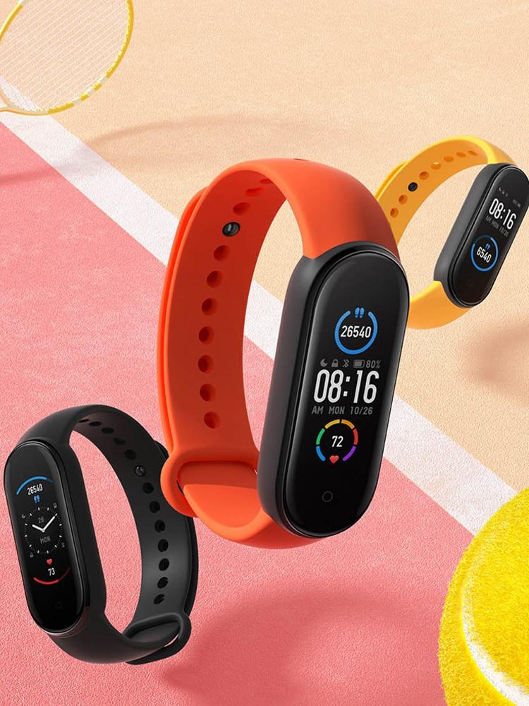 2020 Xiaomi Mi Band 5 Smart Bracelet 1:1 large AMOLED Screen Heart Rate Fitness Traker Bluetooth 5.0 Sport Waterproof band 5