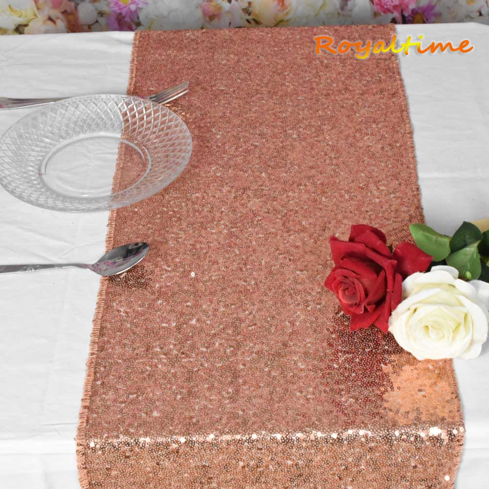 Sequin Table Runner Rose Gold/Silver/Navy Blue/Pink/Red/FuchsiaLuxury Style Wholesale For Wedding Hotel Dinner Party Decoration