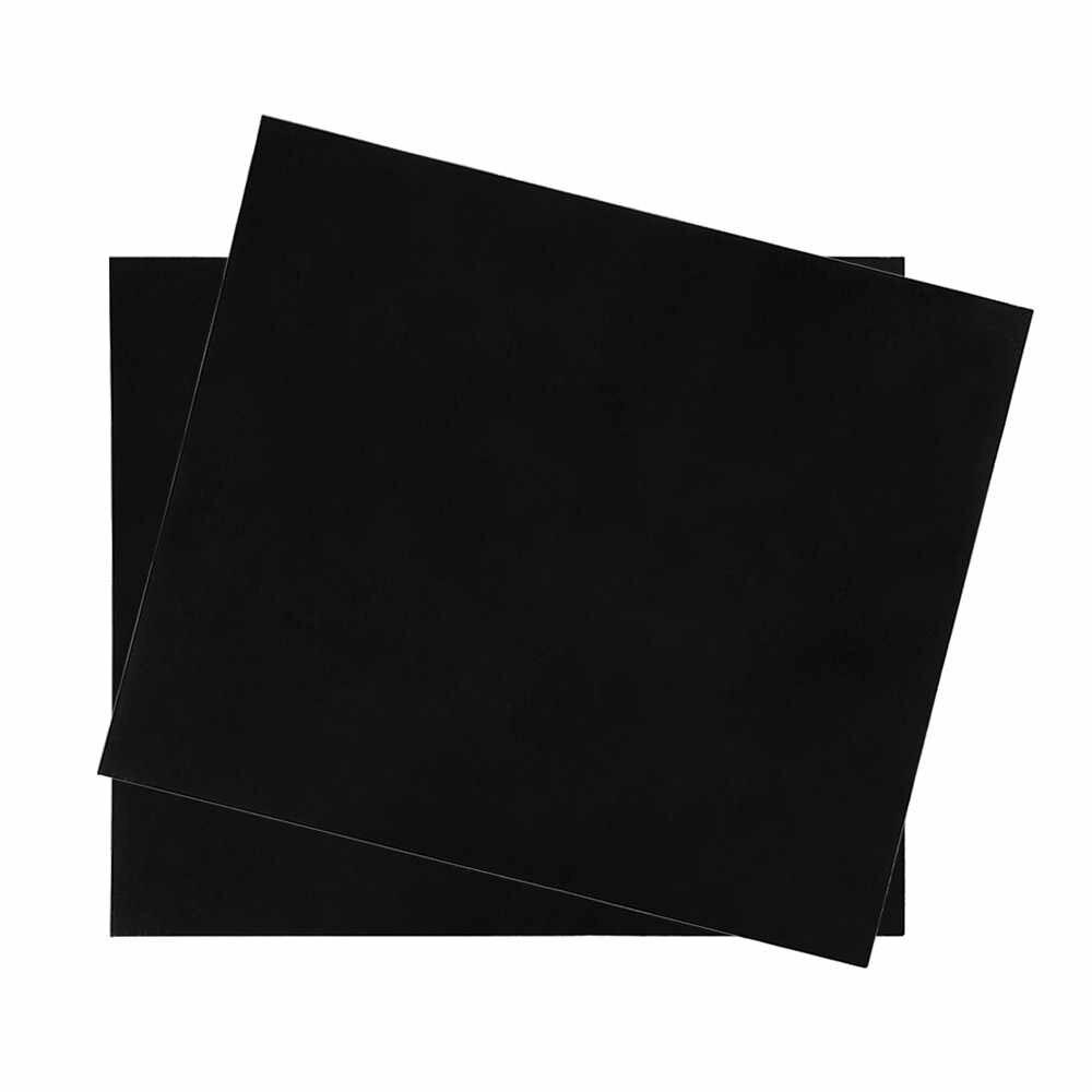 Аксессуары для гитары пустой лист для изготовления защитной накладки материал царапины Пластина для акустических гитар DIY пользовательские ПВХ черный 1 шт.