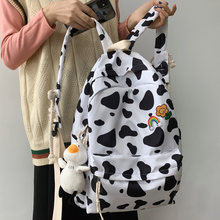 DIFA Cow Texture Waterproof Nylon Women Backpack Fashion School Bag For Teenage Backpacks Female Lovely Shoulder Travel Bag New