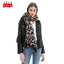Club Sexy Scarves Women Winter Warm Solid head leopard scarf Long Shawl Soft Long Neck wraps abrigos mujer invierno 2019 #ZB(China)