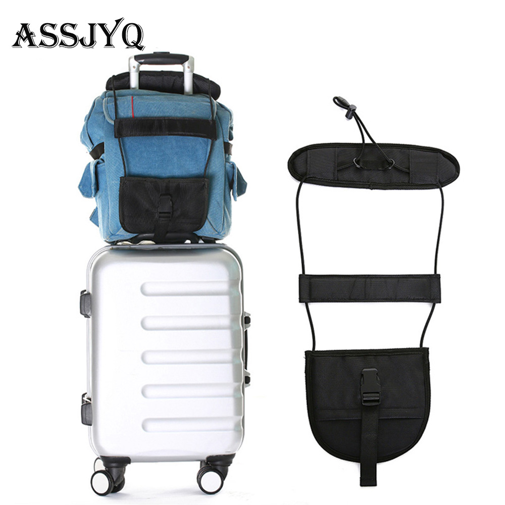 Travel Accessories Telescopic Luggage With Travel Bag Accessories Suitcase Fixed Belt Trolley Adjustable Tough  Luggage Strap