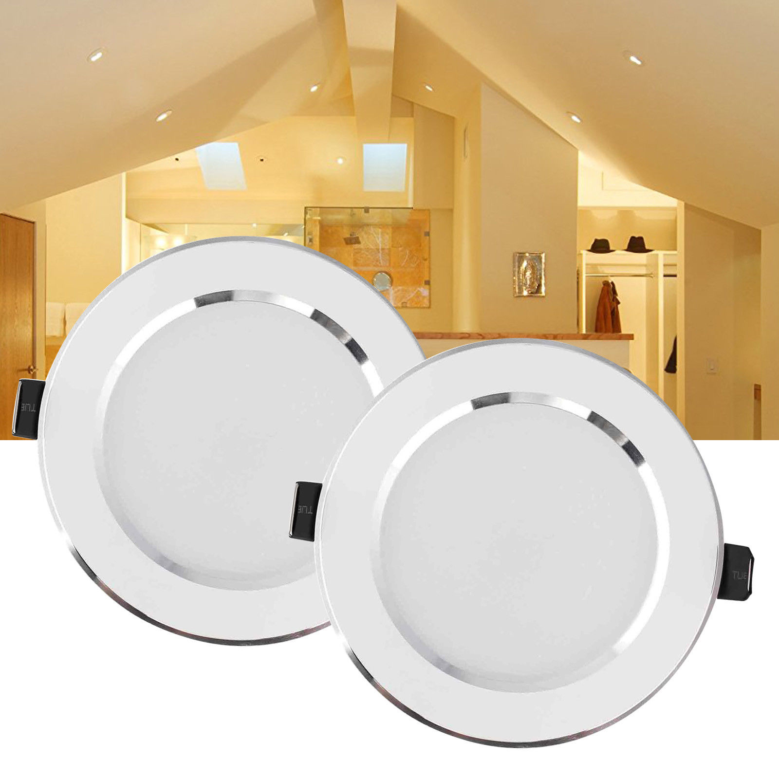 Image of: Dimmable Led Recessed Ceiling Light Panel Downlight 3w 5w 7w 9w 12w 15w 18w 21w Ac 110v 220v For Home Office Living Room White Led Downlights Aliexpress
