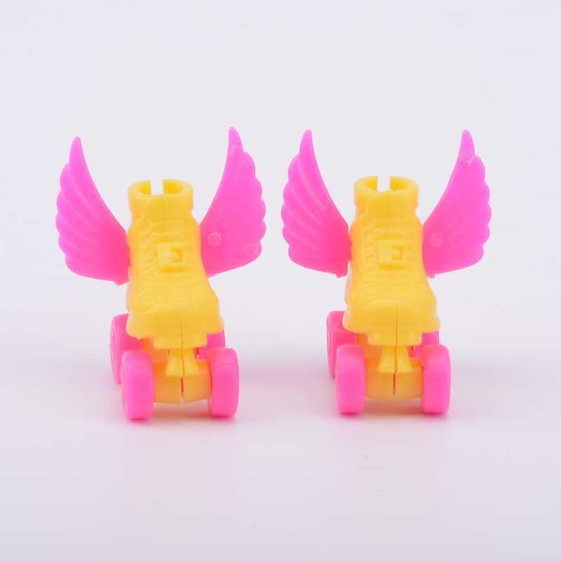 חדש 4 יח'\סט דקורטיבי רולר סקייט מפואר בובת נעלי קטנועים אוזניות עבור ברבי ילדים בנות צעצוע רולר לשחק