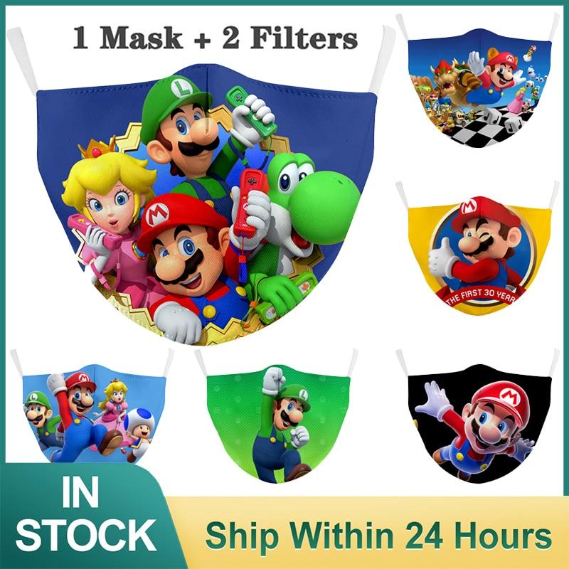 Máscara reutilizável crianças máscaras de rosto lavável máscara de tecido filtro protetor respirável máscara facial à prova de vento máscara de boca para o rosto      -