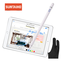 Dla pióro firmy apple 2 Suntaiho nowa pojemność rysika ołówek dotykowy dla apple ipad ołówek dla iPhone XS MAX z opakowania detaliczne w Rysiki do tabletów od Komputer i biuro na