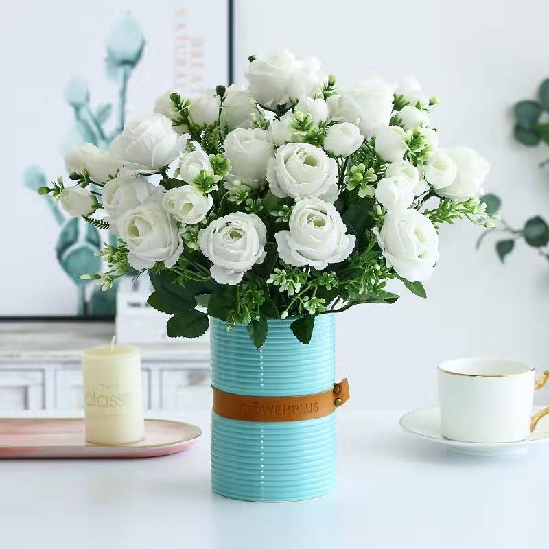 Искусственные цветы для украшения, Шелковая Роза, пион, свадебный букет, Высококачественный искусственный цветок, Рождественский, домашний...