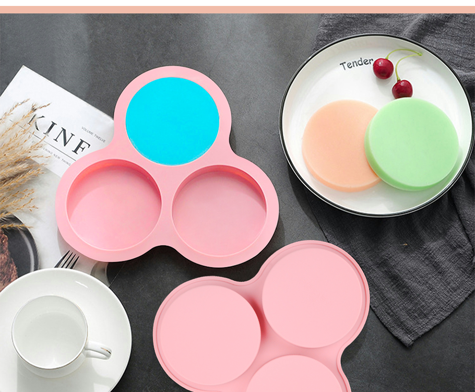 1SILIKOLOVE New 3D Round Silicone Candy Molds Cake Decorating Tools Silicone Mold Chocolate Mold_03