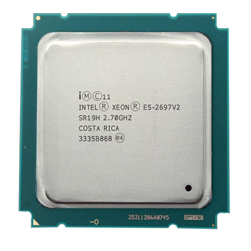 <font><b>Intel</b></font> <font><b>xeon</b></font> <font><b>E5</b></font> <font><b>2697</b></font> <font><b>V2</b></font> 2.7GHz 12 Core 12 thread 24 Core 24 thread 30M QPI 8GT/s LGA 2011 SR19H C2 <font><b>E5</b></font>-<font><b>2697</b></font> <font><b>v2</b></font> CPU Processor image