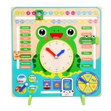 Детские Многофункциональные часы с календарем для раннего обучения