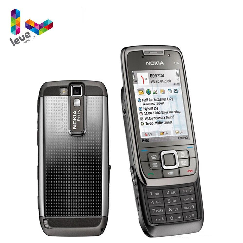 Nokia E66 слайдер телефон оригинальный б/у E66 GSM WIFI Bluetooth 3.15MP камера 2G 3G разблокированные сотовые телефоны Бесплатная доставка