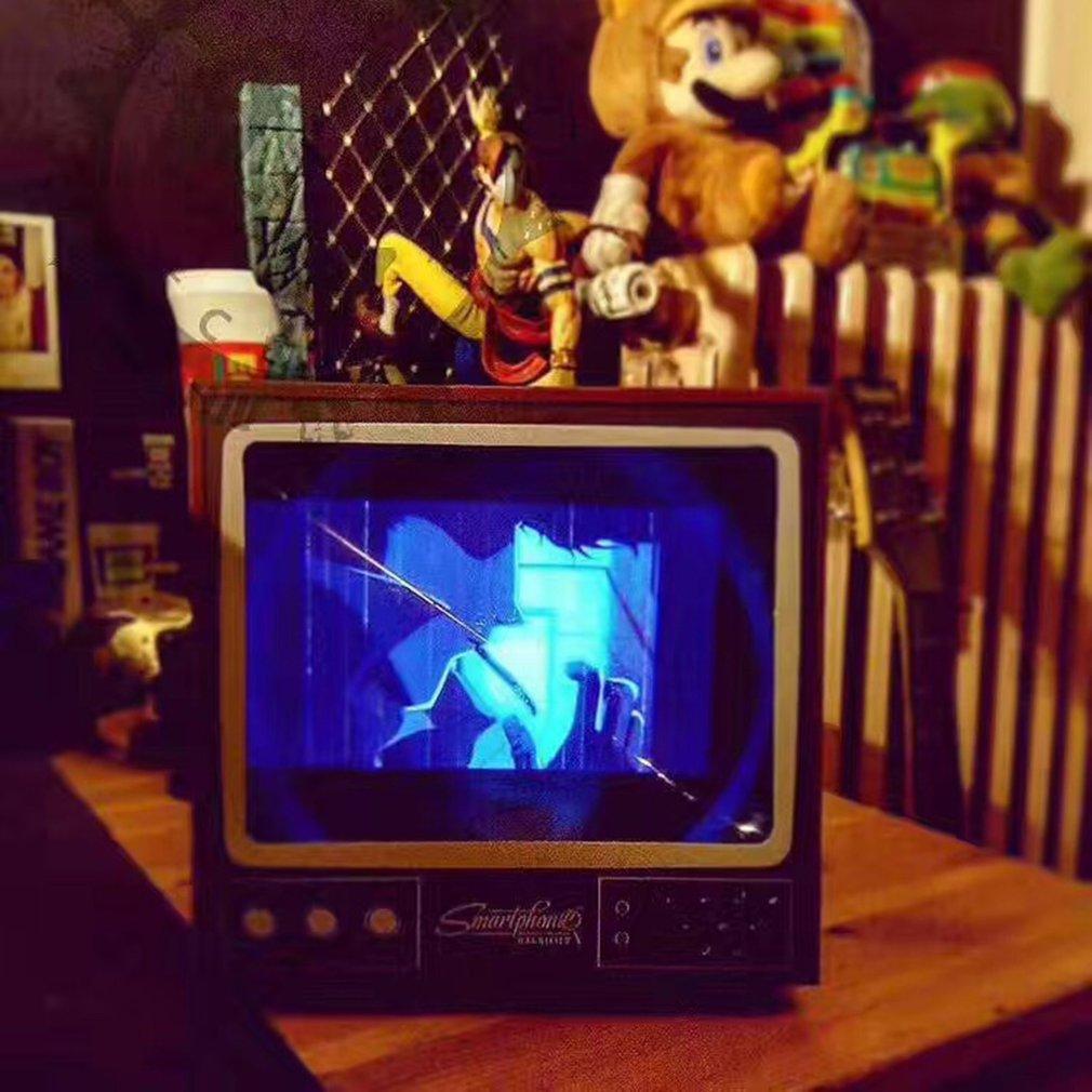 Телефон видео экран Лупа Ретро маленький ТВ увеличительные инструменты DIY Складные лупы Настольный Универсальный телефон усилитель пленки